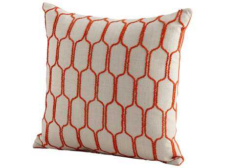 Cyan Design Orange Building Blocks Pillow