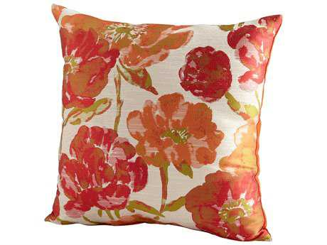 Cyan Design Orange Flower Power Pillow