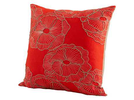 Cyan Design Red Petunia Pillow