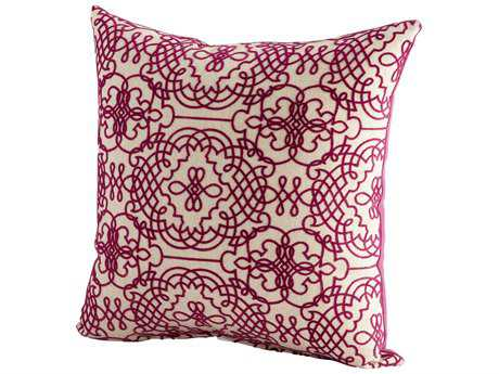 Cyan Design Purple & White St. Lucia Pillow