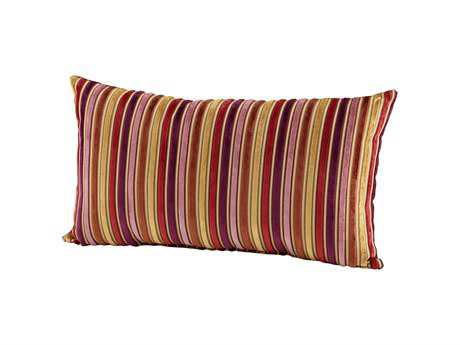 Cyan Design Purple Vibrant Strip Pillow