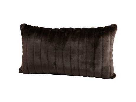 Cyan Design Brown Faux Beaver Pillow