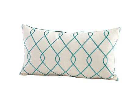 Cyan Design Turquoise & White Chain Link Pillow