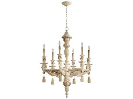 Cyan Design Brenton Persian White Six-Light 28'' Wide Chandelier