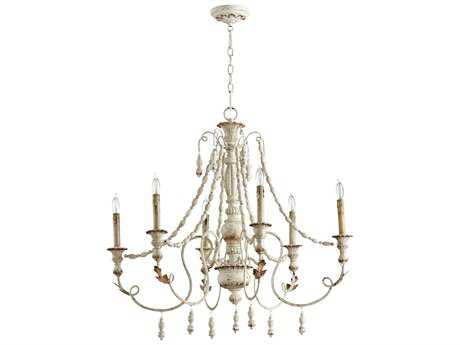 Cyan Design Lyon Persian White Six-Light 33'' Wide Chandelier