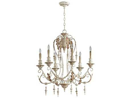 Cyan Design Lolina Persian White Six-Light 28'' Wide Chandelier
