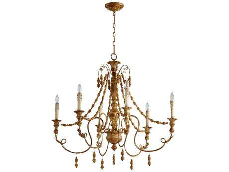 Cyan Design Lyon French Umber Six-Light 33'' Wide Chandelier