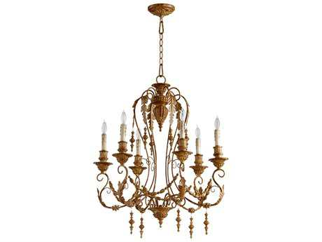 Cyan Design Lolina French Umber Six-Light 28'' Wide Chandelier