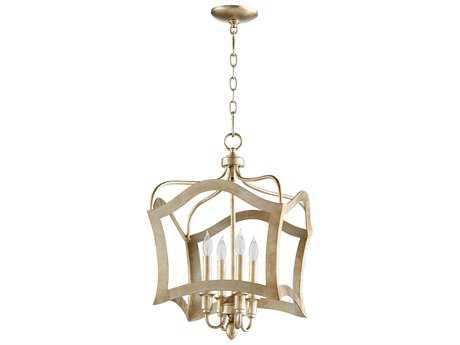Cyan Design Milan Aged Silver Leaf Four-Light Pendant
