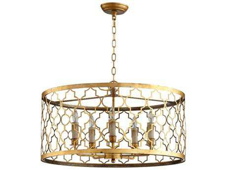 Cyan Design Romeo Gold Leaf Five-Light Pendant