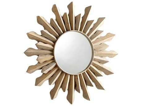 Cyan Design Sol 37 x 37 Whitewash Wall Mirror
