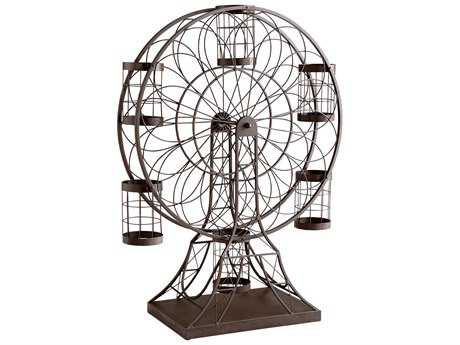 Cyan Design Ferris Wheel Ebony Wine Rack