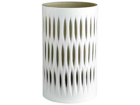 Cyan Design White & Smoked Marquise Vase