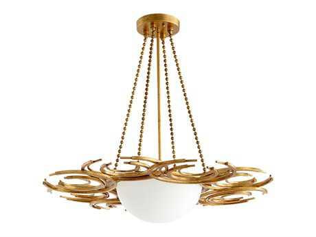 Cyan Design Vivian Gold Leaf Three-Light Pendant