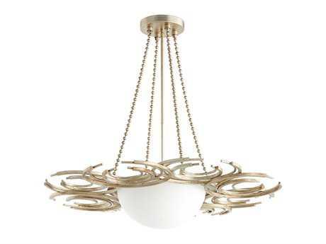 Cyan Design Vivian Aged Silver Leaf Three-Light Pendant