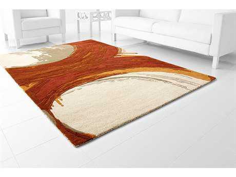 Cyan Design Percival Orange & Ivory Area Rug