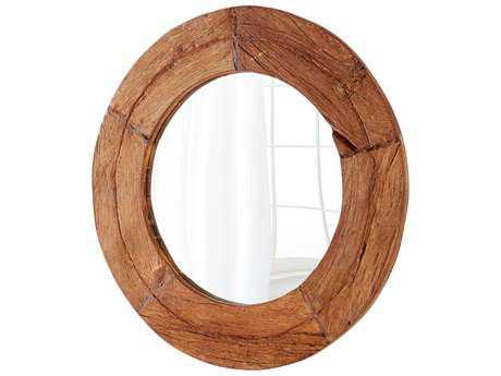 Cyan Design Murray Oak 36'' Wide Round Wall Mirror