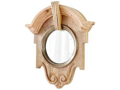 Cyan Design Mahogany Natural 30''W x 34''H Wall Mirror