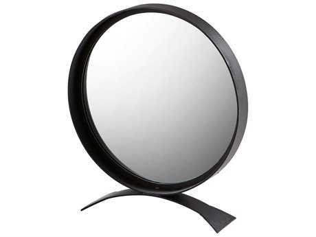 Cyan Design Orbem Matte Black 24'' Wide Round Dresser Mirror