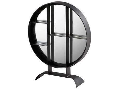 Cyan Design Nexus Matte Black 22'' Wide Round Dresser Mirror