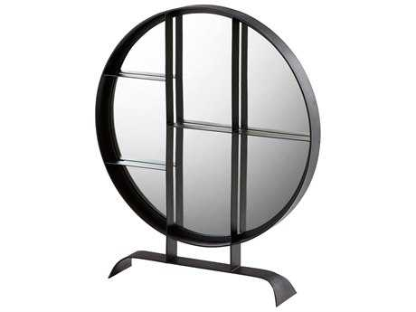 Cyan Design Nexus Matte Black 32'' Wide Round Dresser Mirror