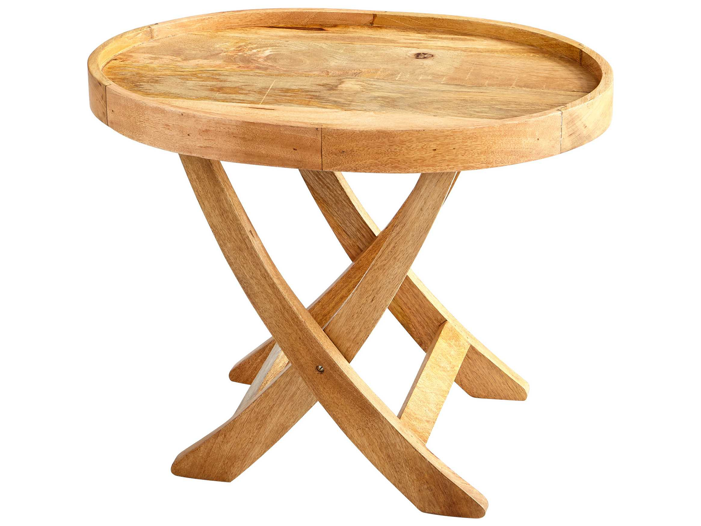 Cyan design rustica tray natural 30 39 39 wide round end table for 10 inch wide side table