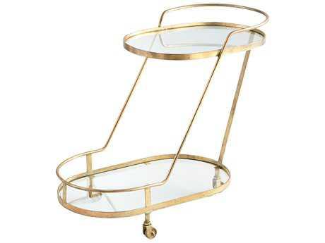 Cyan Design Patin Brass Bar Cart