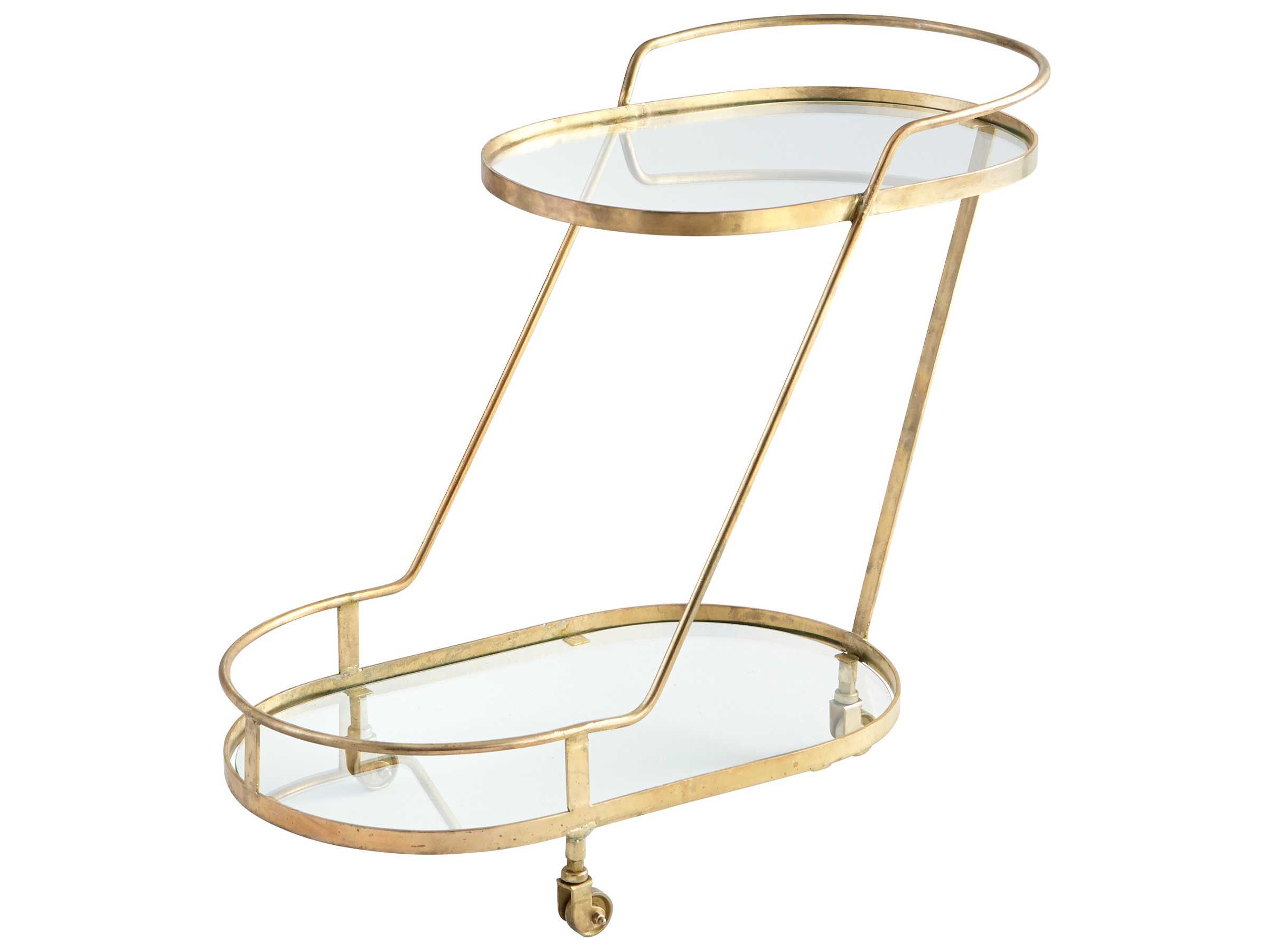 cyan design patin brass bar cart c306996. Black Bedroom Furniture Sets. Home Design Ideas