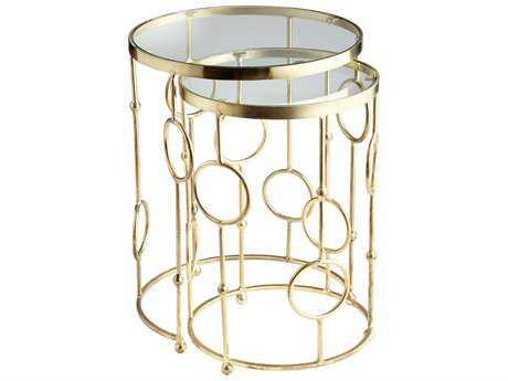 Cyan Design Perseus Brass 18'' Wide Round Nesting Table