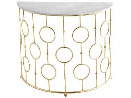 Cyan Design Perseus Brass 36''L x 18''W Demilune Console Table