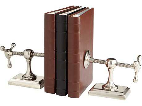 Cyan Design Hot and Cold Nickel Book Ends