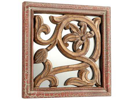 Cyan Design Vinea Antique Cherry 10'' Wide Square Wall Mirror