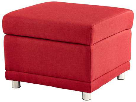 Cyan Design Maro Red Ottoman