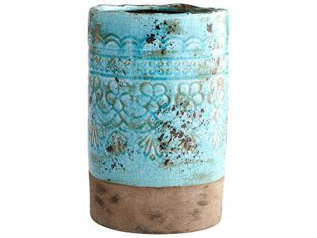 Cyan Design Geneva Blue Glaze Large Vase