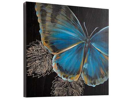 Cyan Design Mariposa Black & Blue Wall Decor