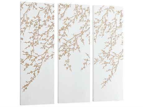 Cyan Design Cherry Blossom White & Gold Wall Decor