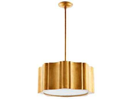 Cyan Design Cloud Gold Leaf Six-Light 22'' Wide Pendant Light