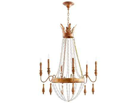 Cyan Design Alexandra Gold Six-Light 30'' Wide Chandelier