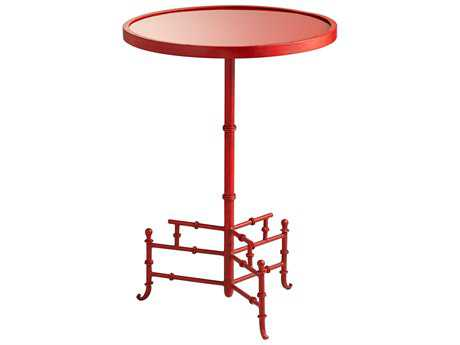 Cyan Design Liora Chinese Red 16'' Wide Round Pedestal Table