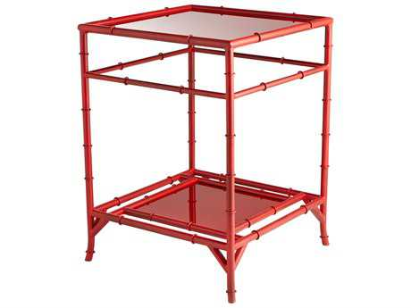Cyan Design Akira Chinese Red 18'' Wide Square End Table