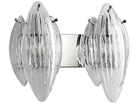 Cyan Design Arista Chrome with Clear Glass Two-Light Vanity Light