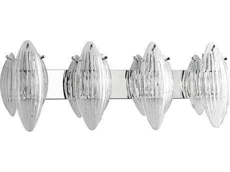 Cyan Design Arista Chrome with Clear Glass Four-Light Vanity Light