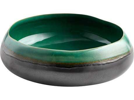 Cyan Design Misha Turquoise & Black Metal Small Bowl