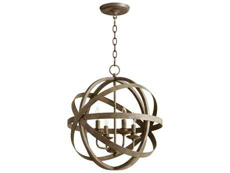 Cyan Design Gladwin Distressed Zinc Four-Light 18'' Wide Mini Chandelier