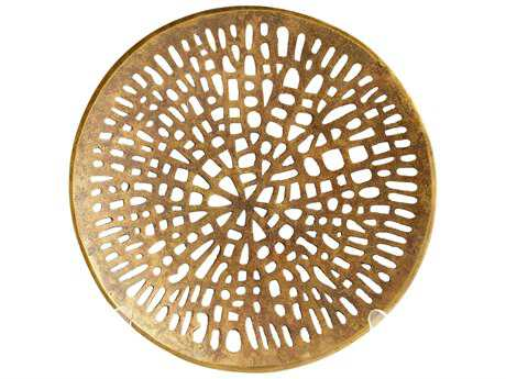 Cyan Design Caught in Your Web Antique Brass Small Decorative Plate
