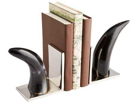Cyan Design Het Hooked Nickel & Bone Book Ends