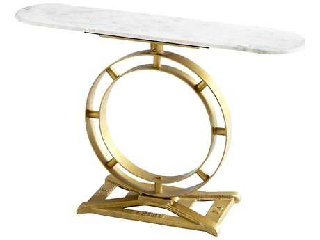 Cyan Design Cordero Brass 47''L x 12''W Oval Console Table