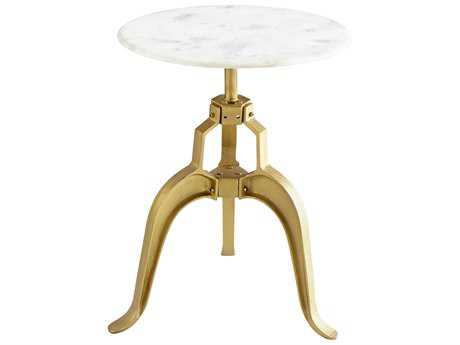 Cyan Design Isotope Brass 23.5'' Wide Round Pedestal Table