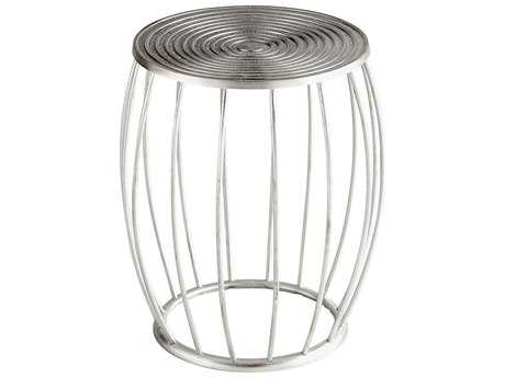 Cyan Design Zodiac Silver Accent Stool