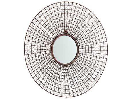 Cyan Design Fuirest Gold 33'' Wide Round Wall Mirror
